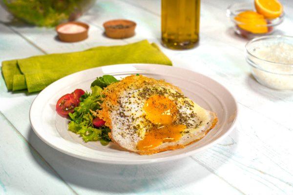 Pecorino Fried Egg on salad