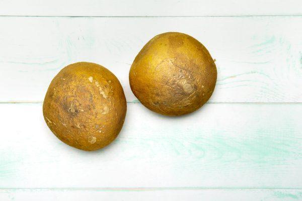 Two bulbs of jicama