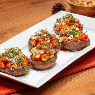 Bruschetta stuffed portobello mushrooms