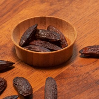 A bowl of tonka beans