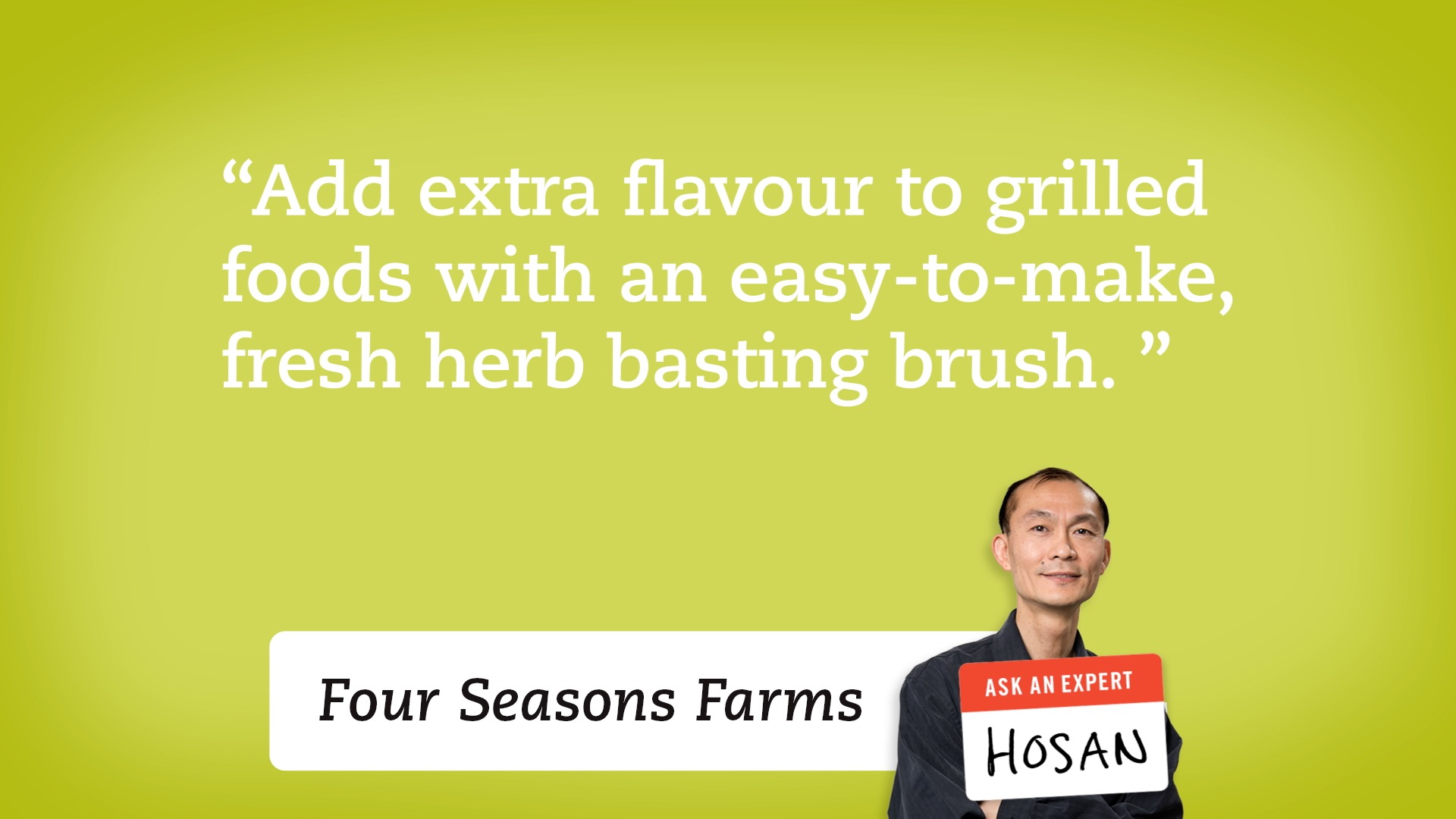 Add extra flavour to grilled foods with an easy-to-make, fresh herb basting brush.